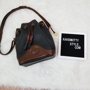 Vintage Dooney & Bourke Fringe Bucket Handbag